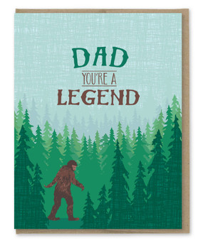 sasquatch legend dad father's day card