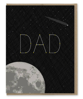stellar dad constellation father's day card
