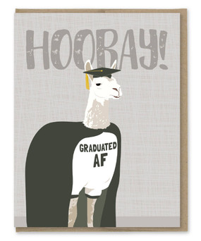 graduation AF llama graduation card