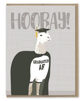graduation AF llama graduation card
