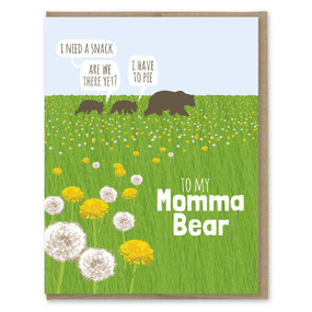 momma bear dandelion mother's day card