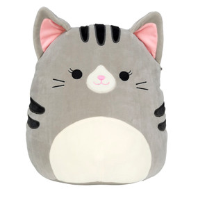 "cat squishmallow friends 8"", grey"