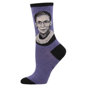 rbg womens crew socks