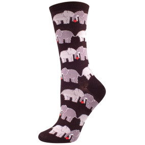 elephant love womens crew socks
