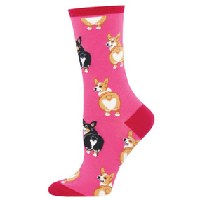 corgi butt womens crew socks