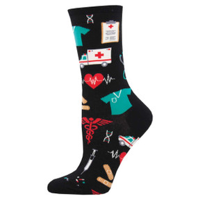healthcare heroes womens crew socks