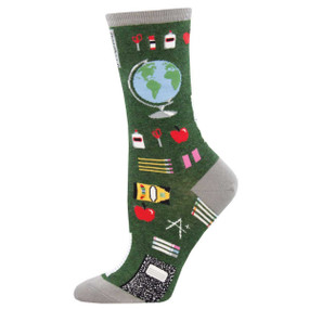 study buddies teacher womens crew socks
