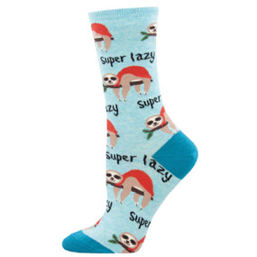 super lazy sloth womens crew socks