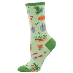 hoe down garden womens crew socks