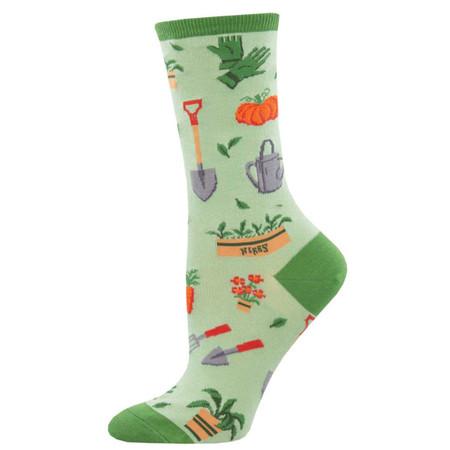 hoe down garden womens crew socks