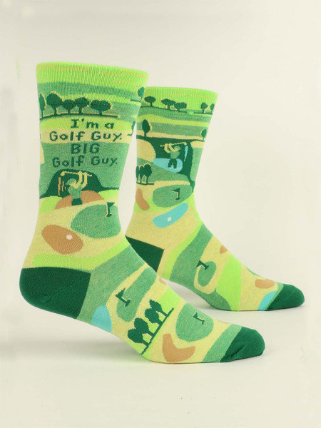 I'm a golf guy mens crew socks