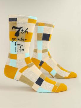 seventh grader for life mens crew socks