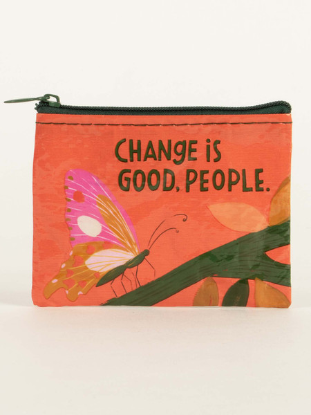 change is good coin purse