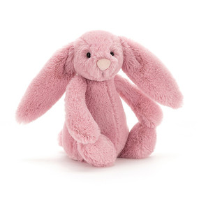 bashful tulip pink bunny small stuffed animal