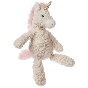 cream putty unicorn, plush stuffed animal