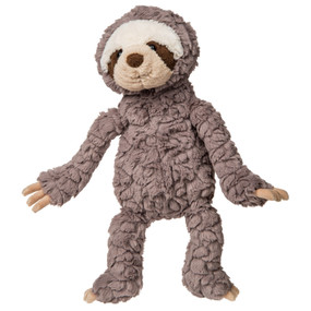 grey putty sloth, plush stuffed animal
