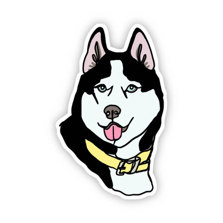 husky dog sticker