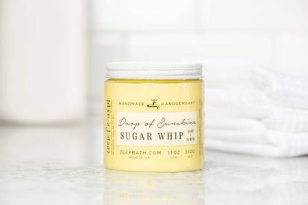 sugar whip soap scrub, drop of sunshine