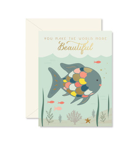 rainbow fish love, friendship card