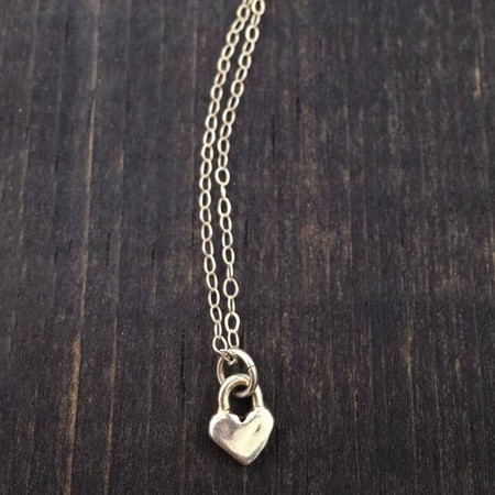 hearts forever necklace, one heart