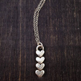 hearts forever necklace, 4 hearts