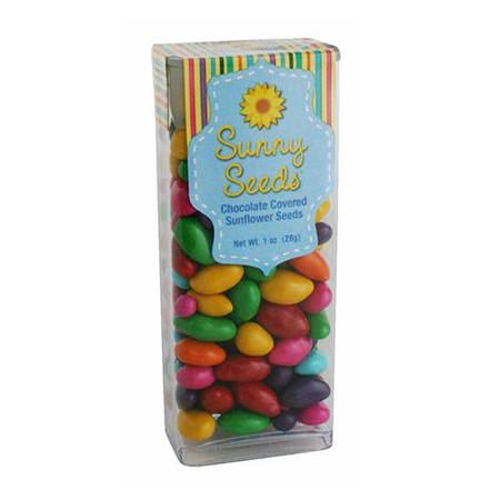 rainbow colored sunny seeds