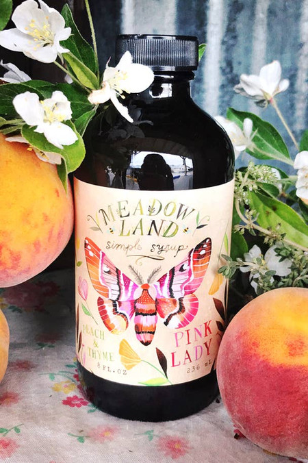 pink lady simple syrup