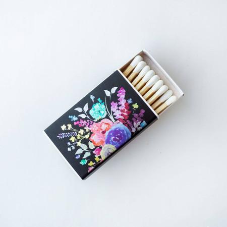 metallic floral matchbox