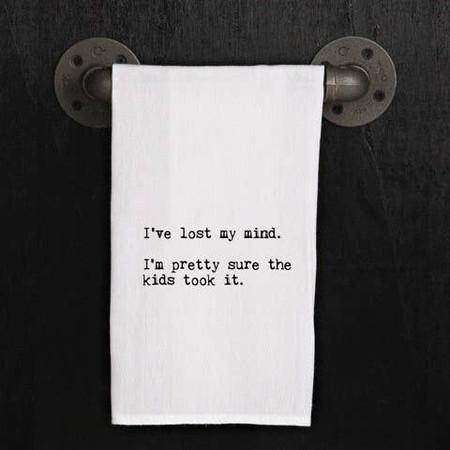 lost my mind dish towel