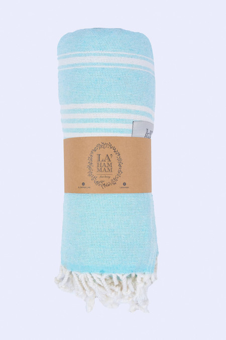 asena peshtemal cotton beach towel, aqua