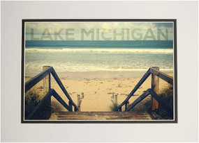 lake michigan sandy stairs1000 piece puzzle