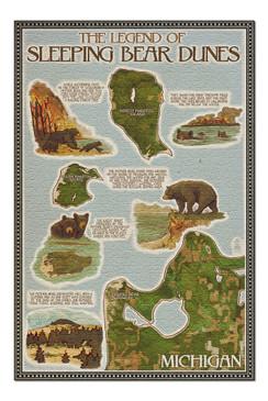 legend of sleeping bear dunes 1000 piece puzzle