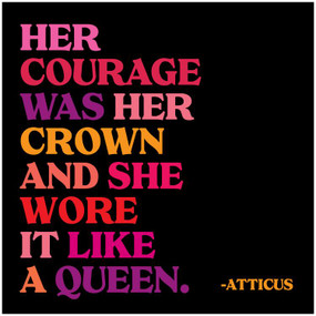 her courage was her crown inspirational card