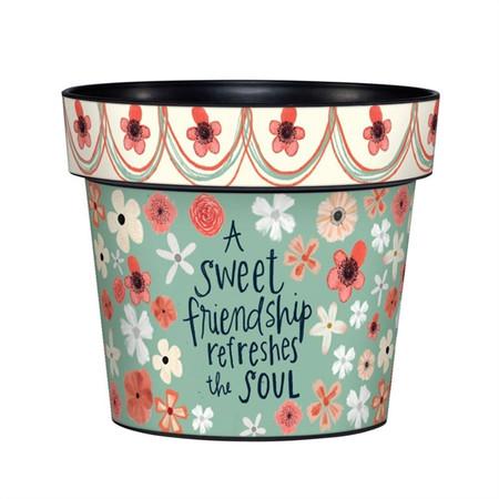 """sweet friendship 6"""" art pot"""
