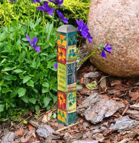 "plant a garden 10"" mini art pole"