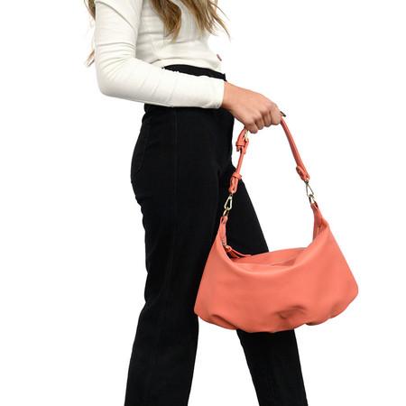 suzy convertible hobo bag, coral