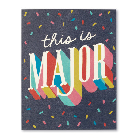 this is major | congratulations, greeting card