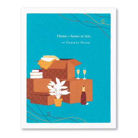 home-home at last, new home, greeting card