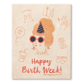 happy birthday week, birthday, greeting card