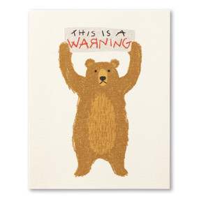 this is a warning, thank you, greeting card