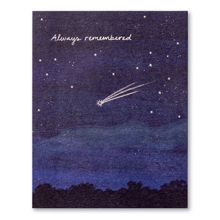 always remembered, sympathy, greeting card