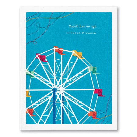 youth has no age birthday, greeting card