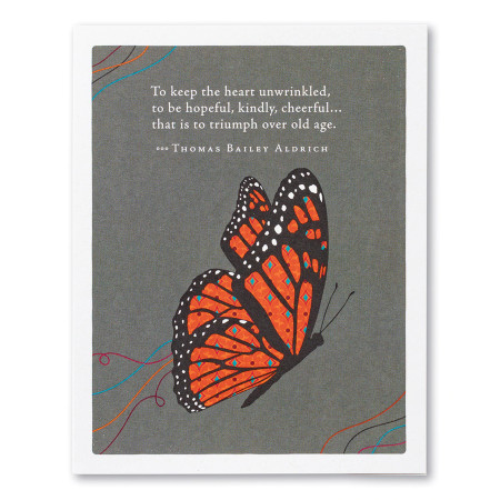 to keep the heart unwrinkled, birthday, greeting card