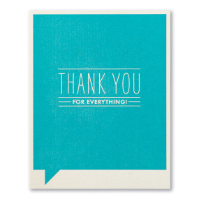 thank you for everything, thank you, greeting card