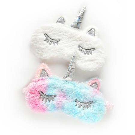 unicorn furry sleeping mask (assorted)
