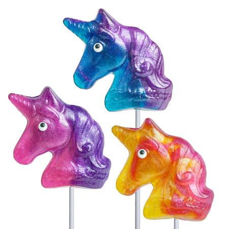 glitter swirl unicorn lollipops