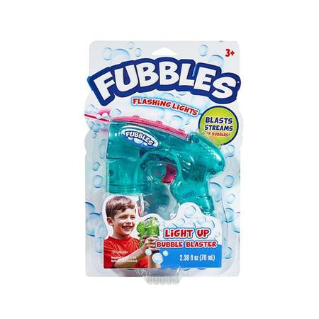 fubbles light up bubble blaster, blue