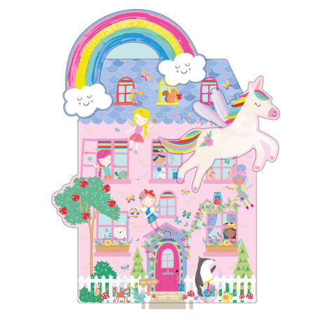 rainbow fairy 100 piece 3 in 1 jigsaw puzzle