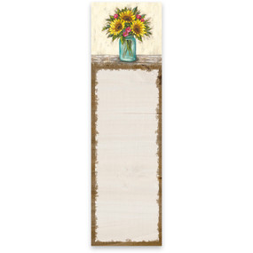 sunflowers list notepad