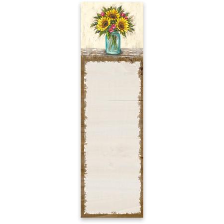 sunflowers list notepad